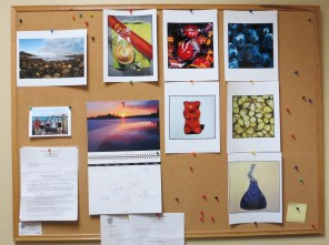 Things become meta/My bulletin board sports a/blogger's calendar