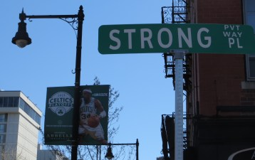 Chin up: Strong Place, across from Massachusetts General Hospital